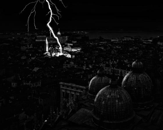 Lightning in venice