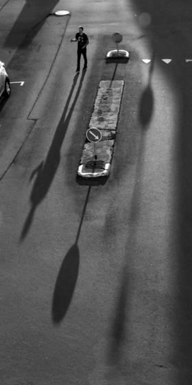 Reykjavik shadows