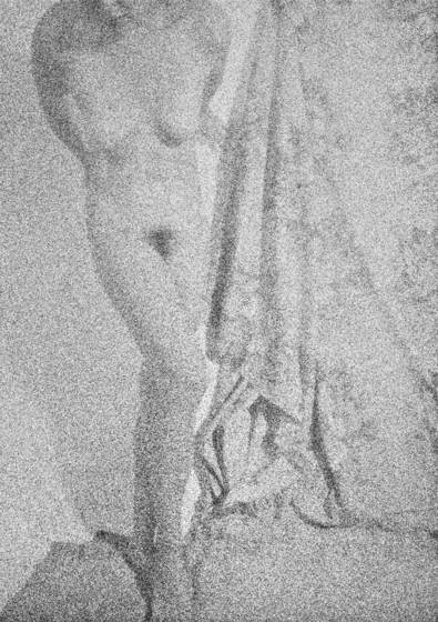 Figure with drapery