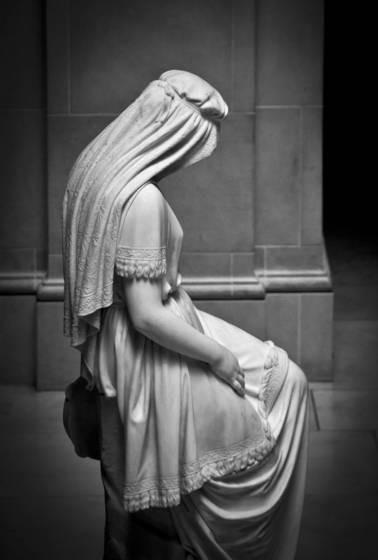 Portrait of the statue jephthas s daughter   by chauncey bradley ives