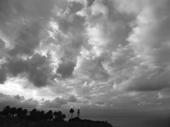 Storm over point vincente