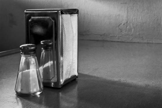 Knapkins and salt