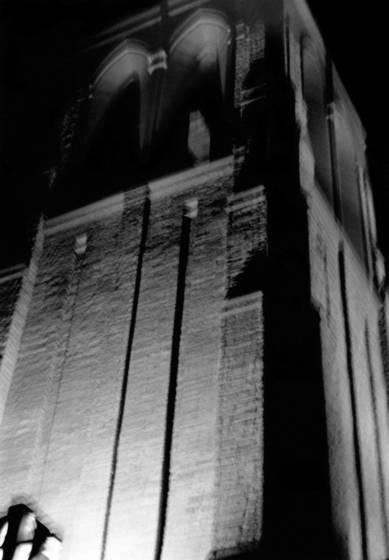 Silver church tower