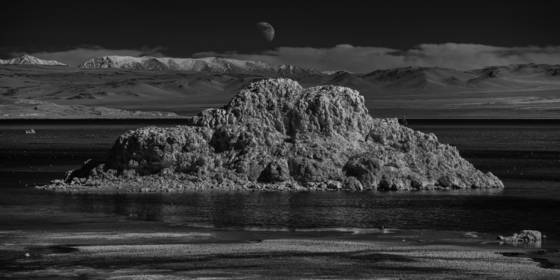 Moon and tufa