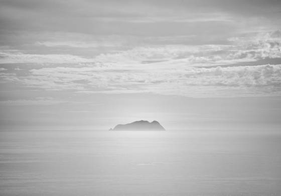 Island at dusk