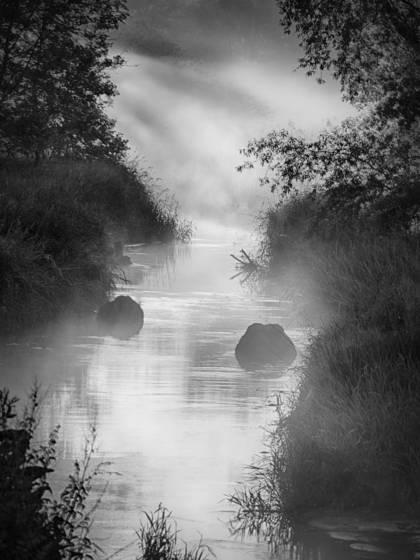 Stream and mist