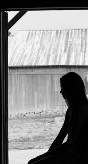 Silhouette of solitude
