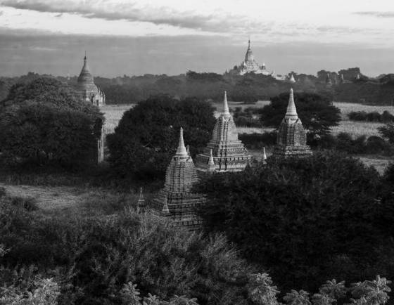 Stupas and temples