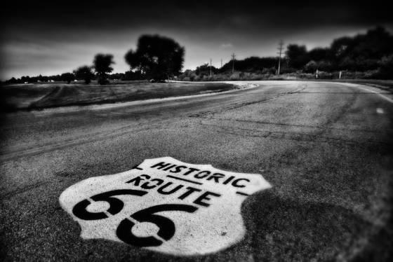 Route us 66 asphalt