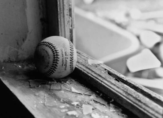 Baseball and  broken window  2