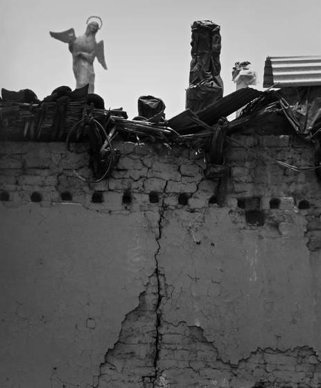 Angle over rubble