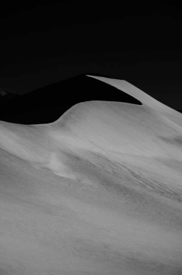 Death valley sand dunes shadows