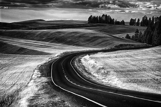 Palouse winding road