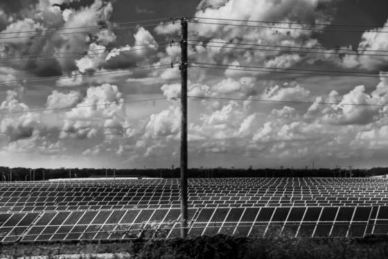 Solar panels and clouds