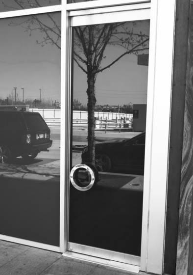 Circular door handle reflections