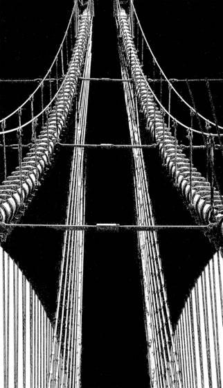 Brooklyn bridge cables and cat walk