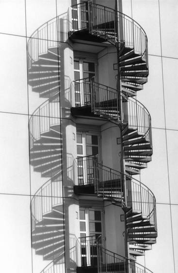 09 spiraling staircase with shadow
