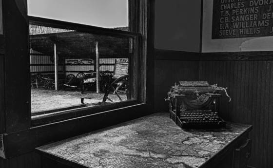 Molson typewriter