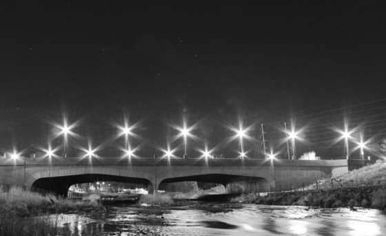 Stars over prince st  bridge