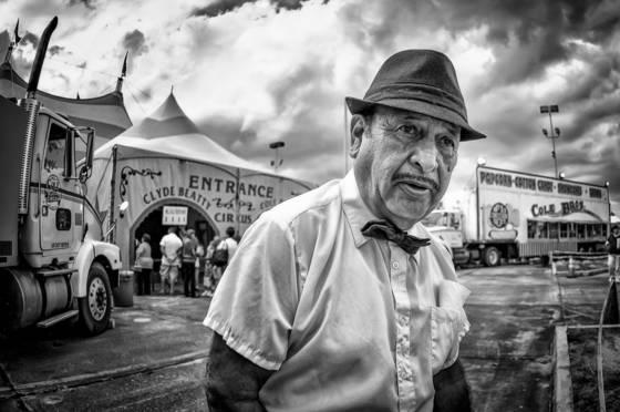 Circus front man