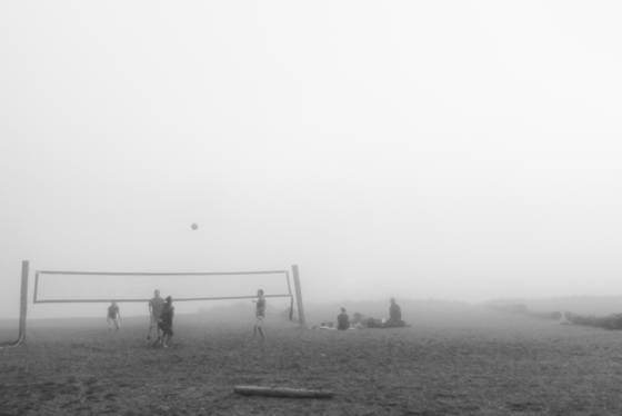 Fog volleyball