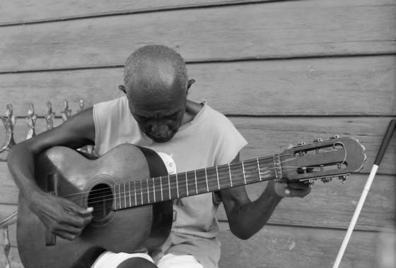 Blind guitarist