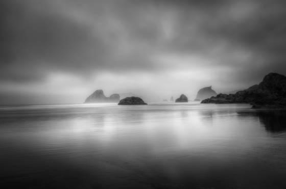 Foggy seas
