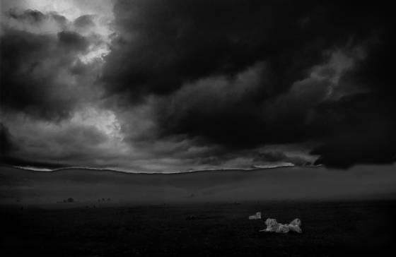Storm over the ngorogoro crater