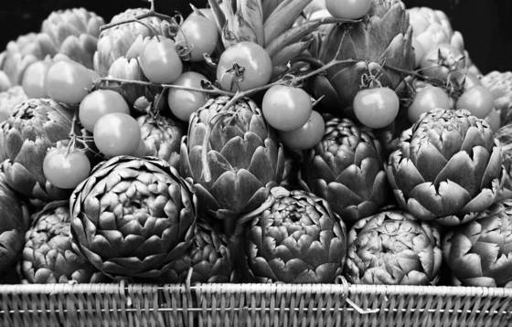 Artichokes and tomatoes