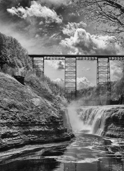 Old railroad trestle