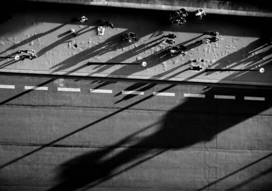 Shadows across pont d i na