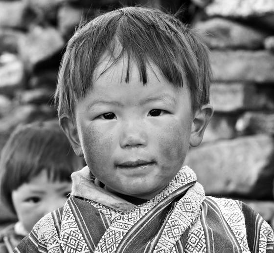 Boy in yak herder camp