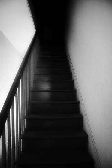 Staircase in shadows