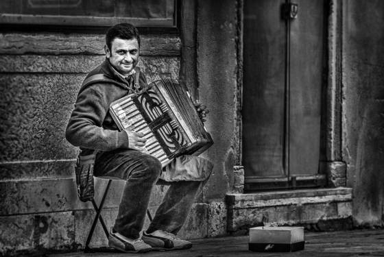 The accordianist of venice