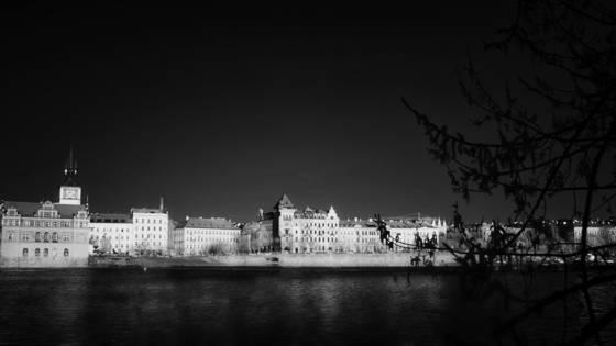 Prague across the vltava