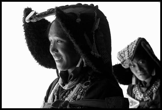 Two women at zanskar tsechu