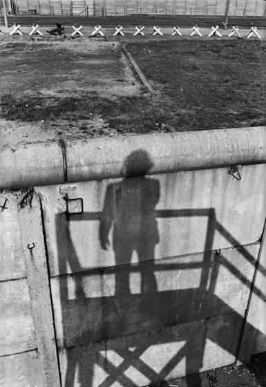 Shadow on berlin wall   looking east