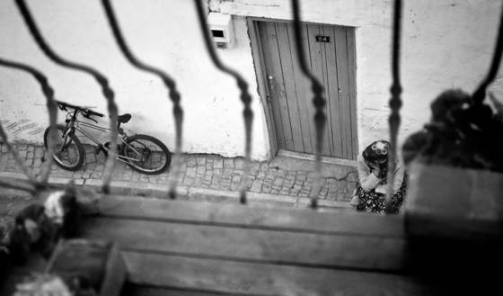 Escape with the bicycle