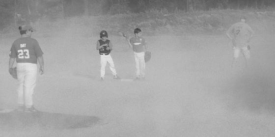 Little league dust storm