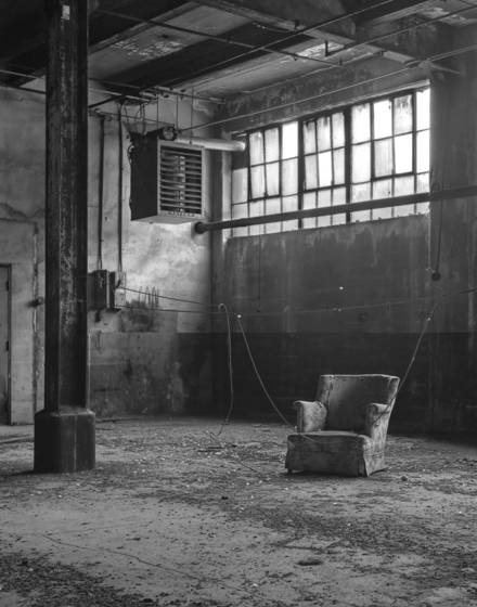 Arm chair   abandoned factory