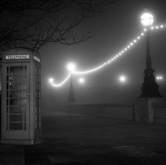 Phonebox in the fog