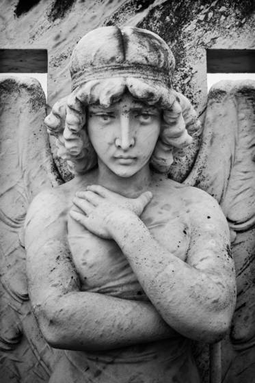 Galveston cemetery headstone statue iv