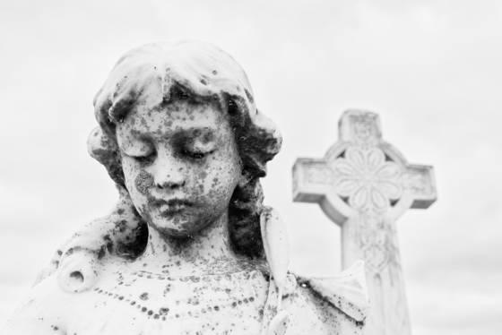 Galveston cemetery headstone statue xiv