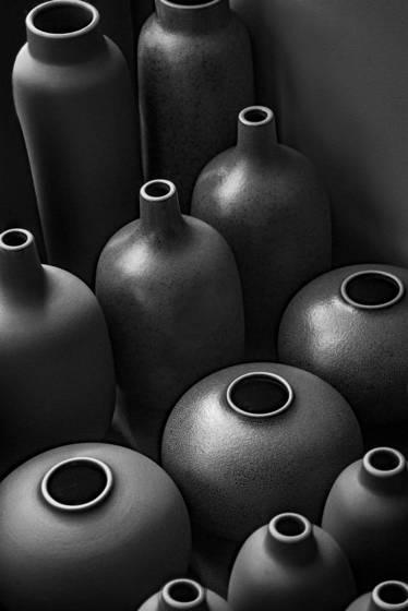 Clay bottle row 3