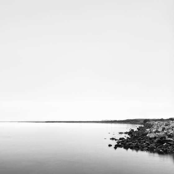 Jones lake and inland fog