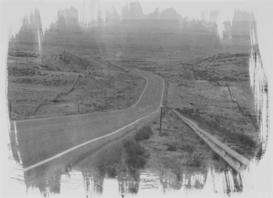 Hiway 30 cyanotype