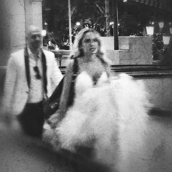 Bride with train