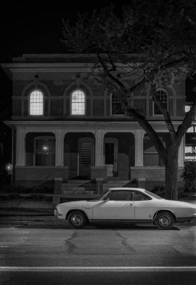Corvair at night