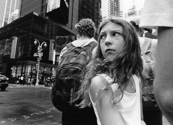 Girl near times square
