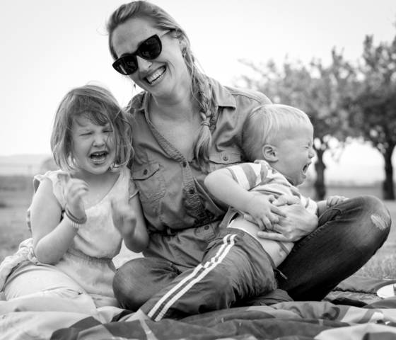 Amber and her kids